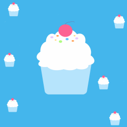 Cupcake Birthday Background