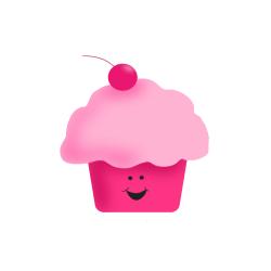 Happy Birthday Cupcake Background