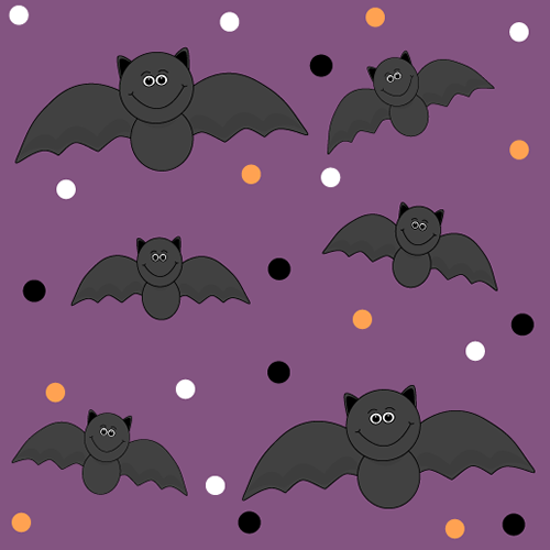 Black Halloween Bats Background on Winter Connect The Dots