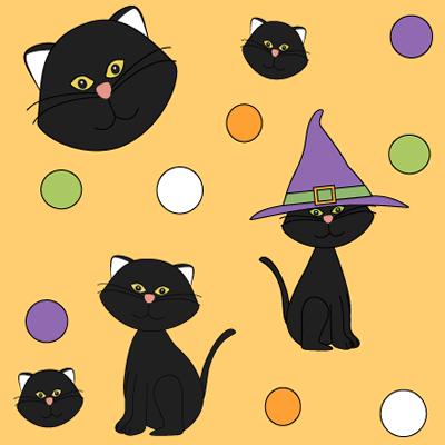 Halloween Black Cat Background