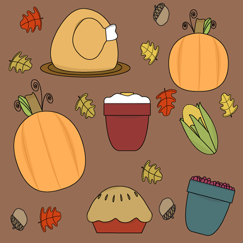 Thanksgiving Feast Background
