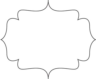 Black and White Bracket Frame
