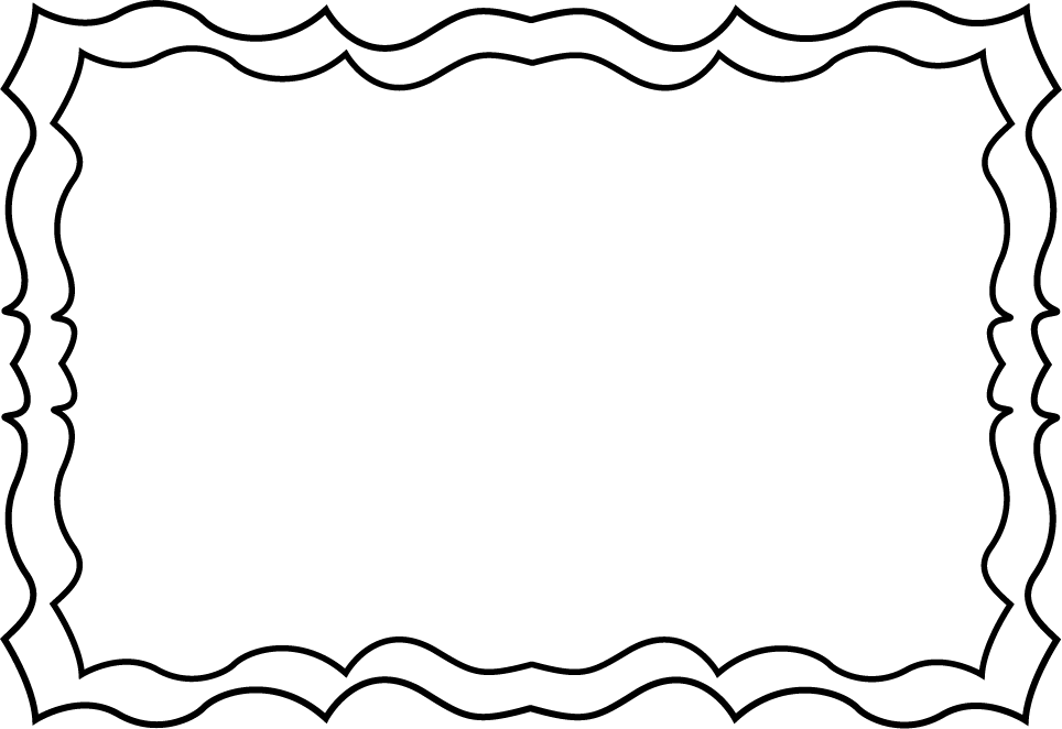 black and white squiggly frame