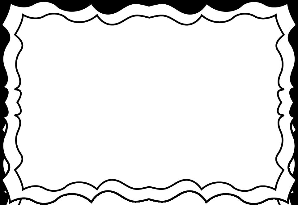 Black and White Frame Clip Art