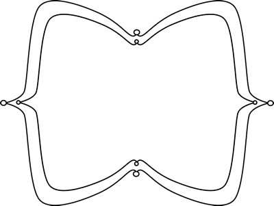 Black and White Wide Pointy Frame