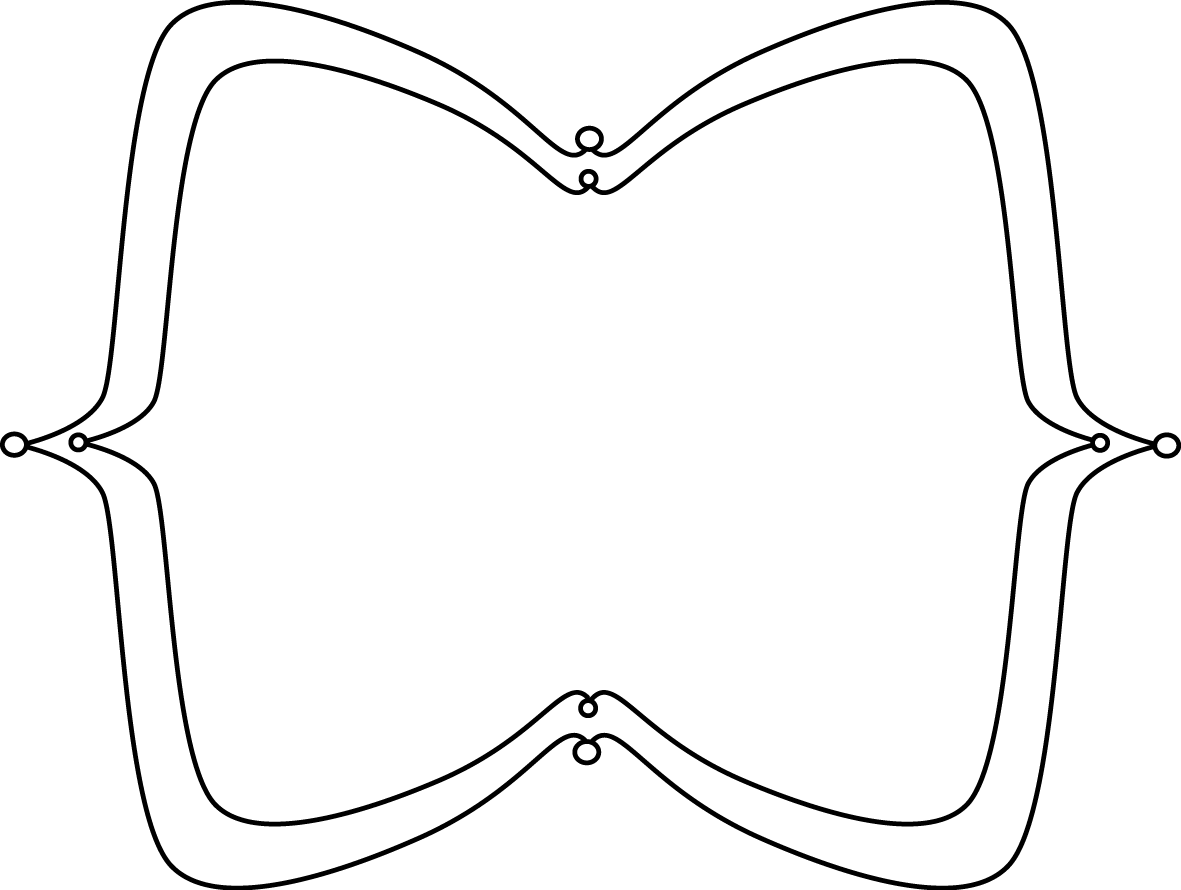Black And White Wide Pointy Frame Clip Art