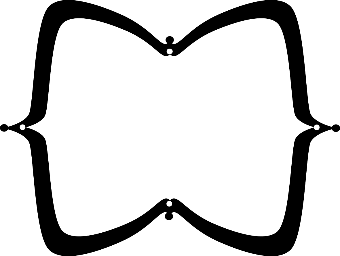 Black Wide Pointy Frame - Free Clip Art Frames