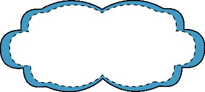 Blue Stitched Frame