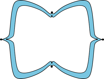 Blue Wide Pointy Frame