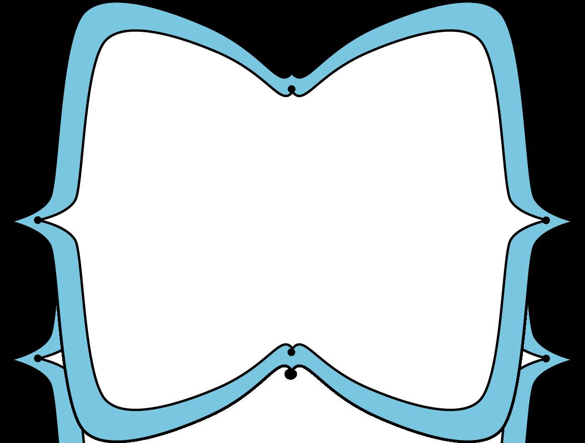 blue wide pointy frame free clip frames