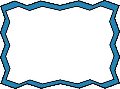 Blue Zig Zag Frame