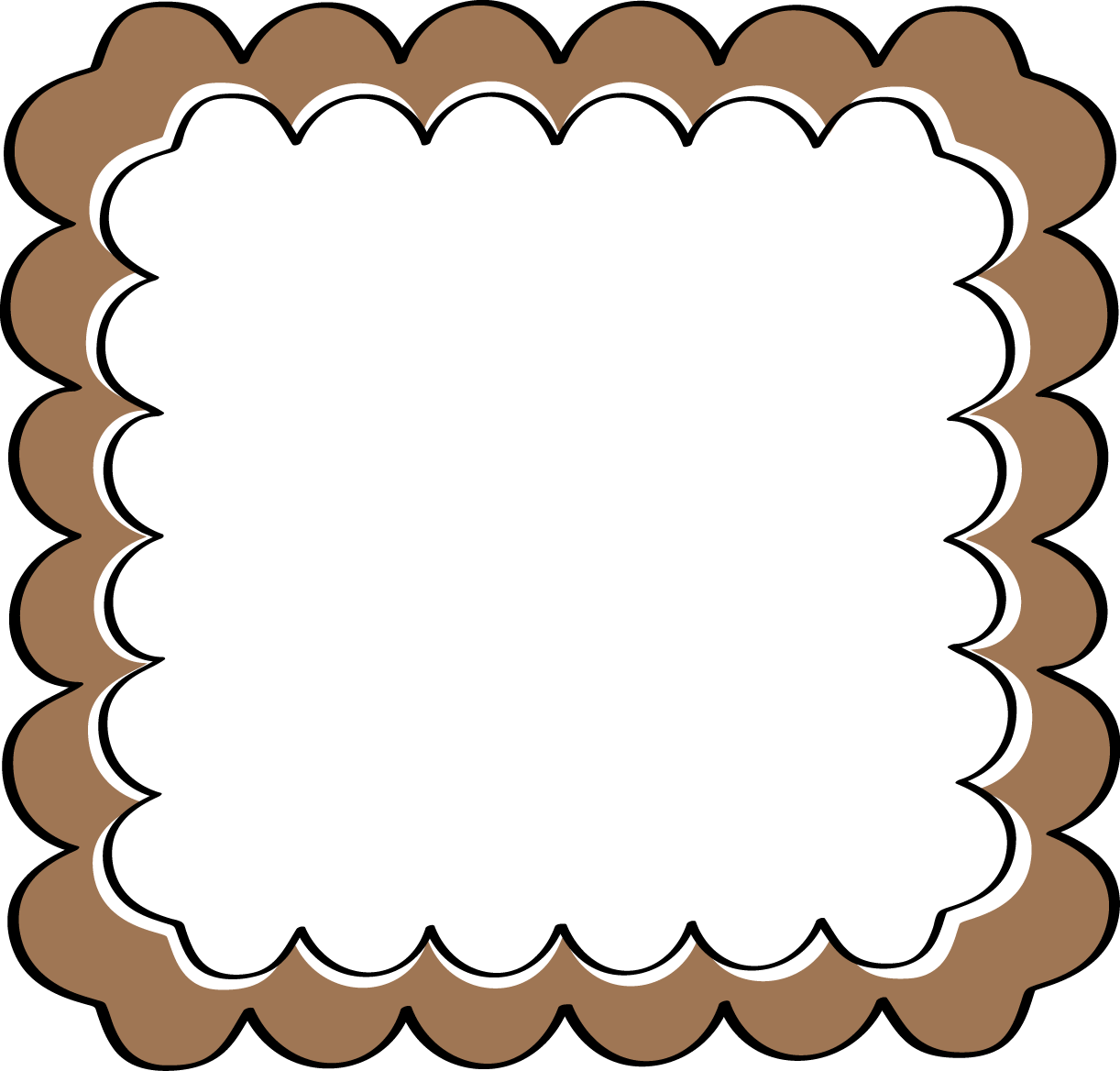 brown scalloped frame