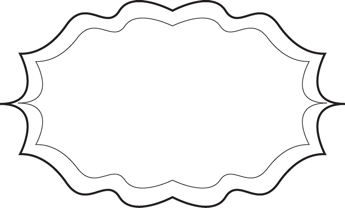 Fancy Black and White Frame - Free Clip Art Frames