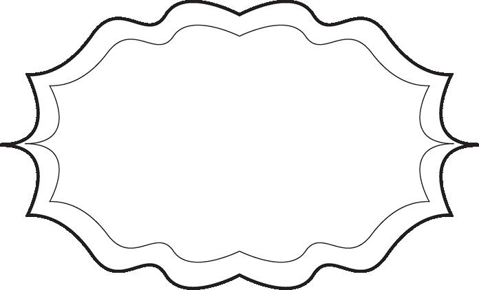 fancy black and white frame