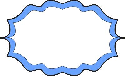 Fancy Blue Frame