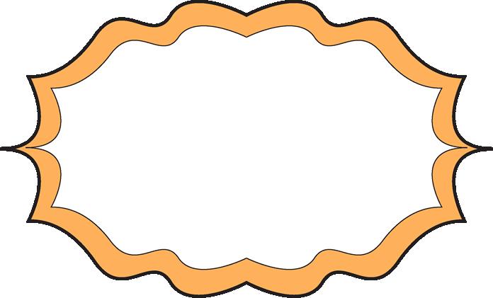 Fancy Orange Frame - Free Clip Art Frames