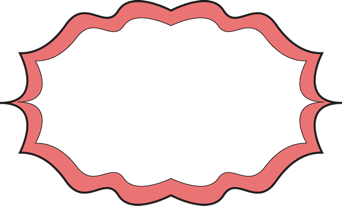 Fancy Peach Frame - Free Clip Art Frames