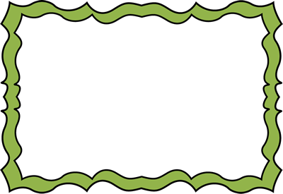 Forest Green Squiggle Frame