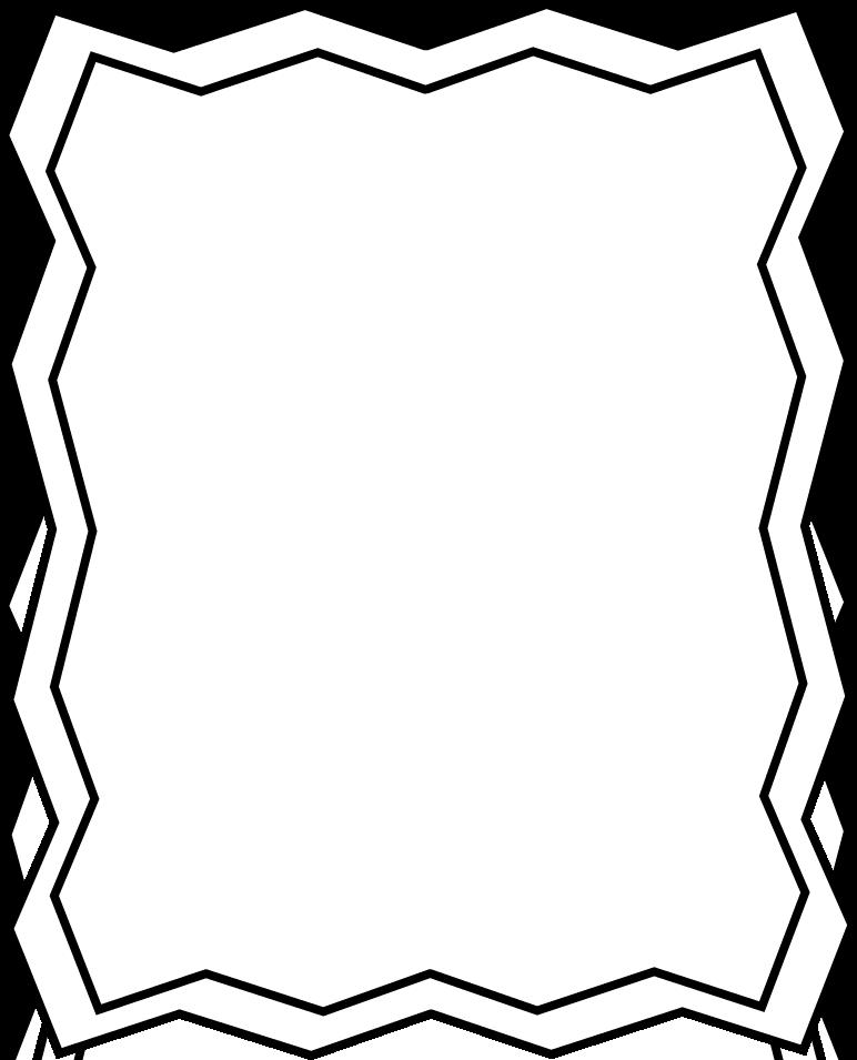 Black And White Zig Zag Frame Full Page