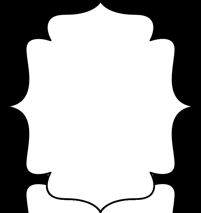 Frame - full page black and white bracket frame with a black border ...