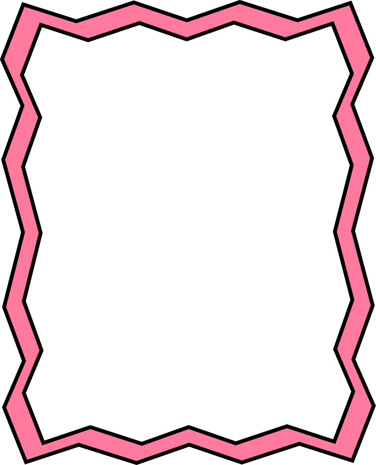 Full Page Pink Zig Zag Frame Free Clip Art Frames