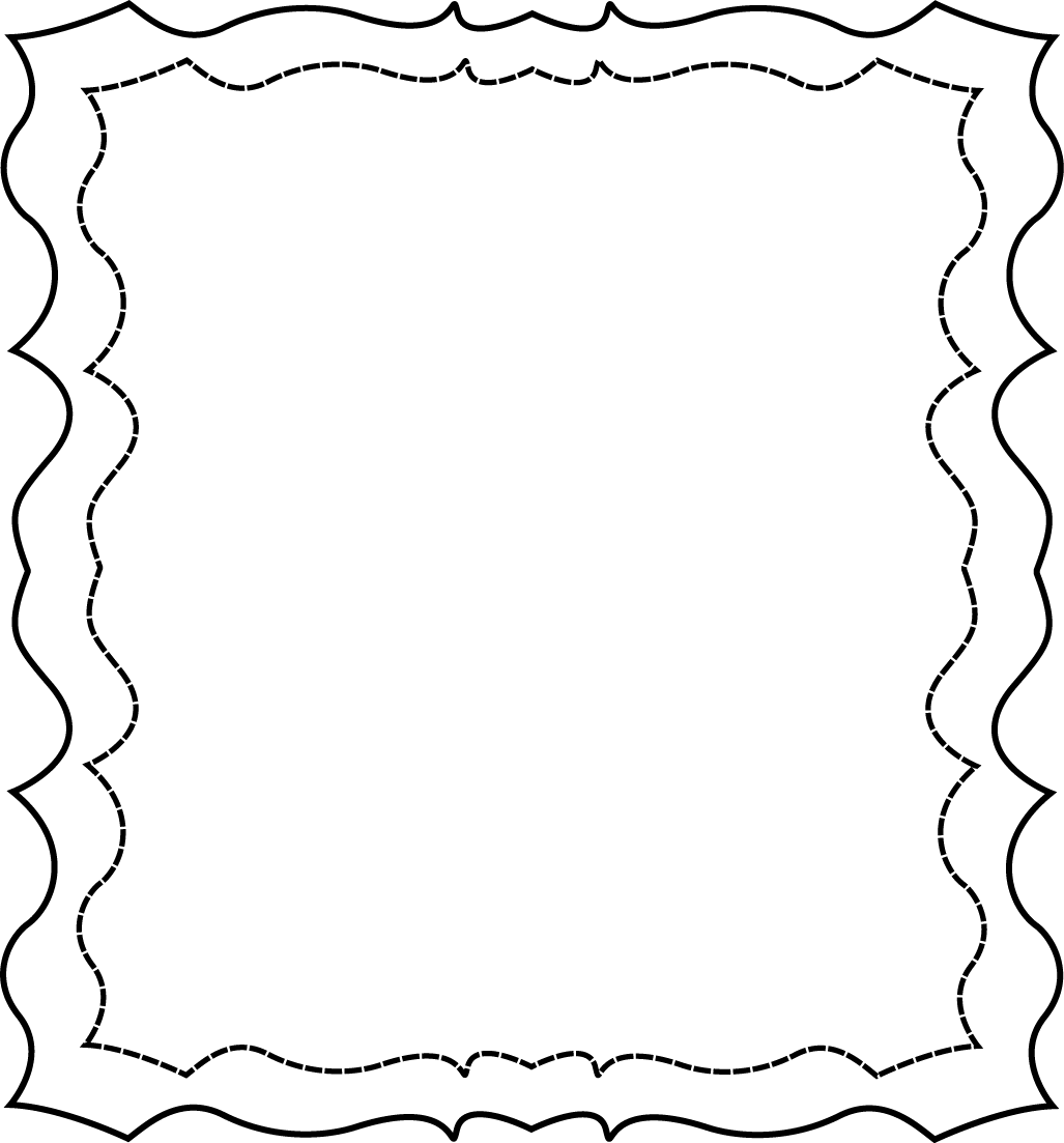 Full Page Squiggly Frame Free Clip Art Frames