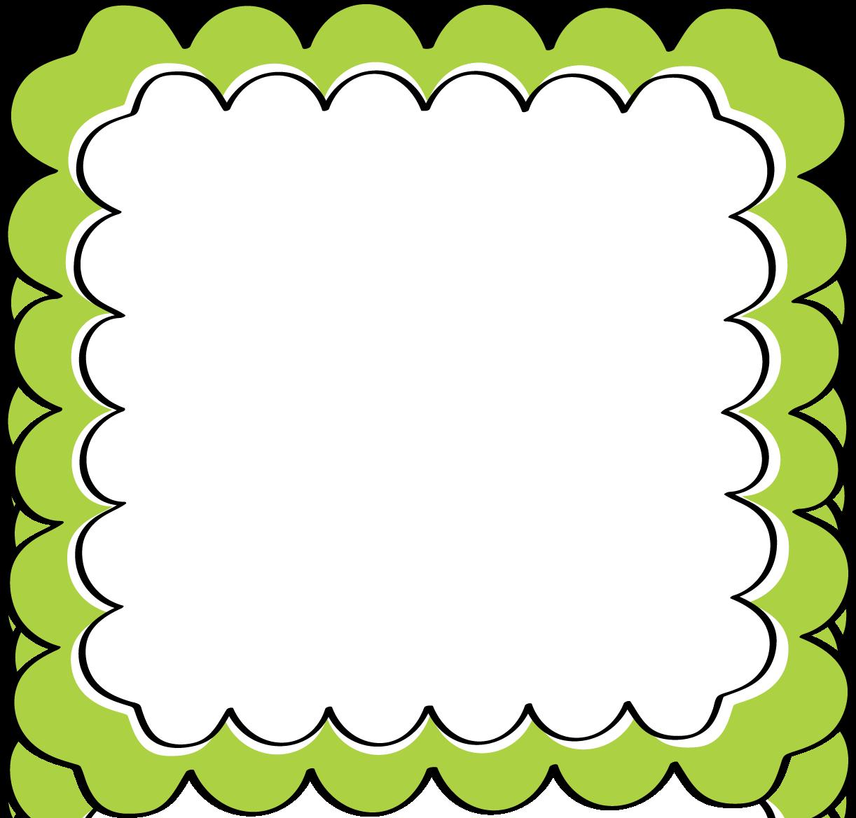 Green borders clip art