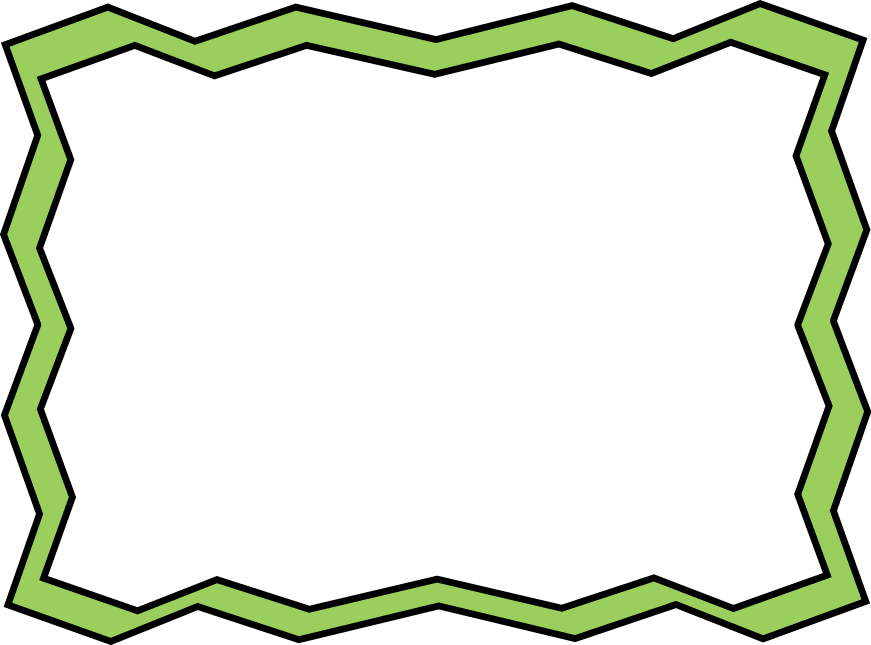 Green Zig Zag Frame  clip art frame with a green zig zag border. Can