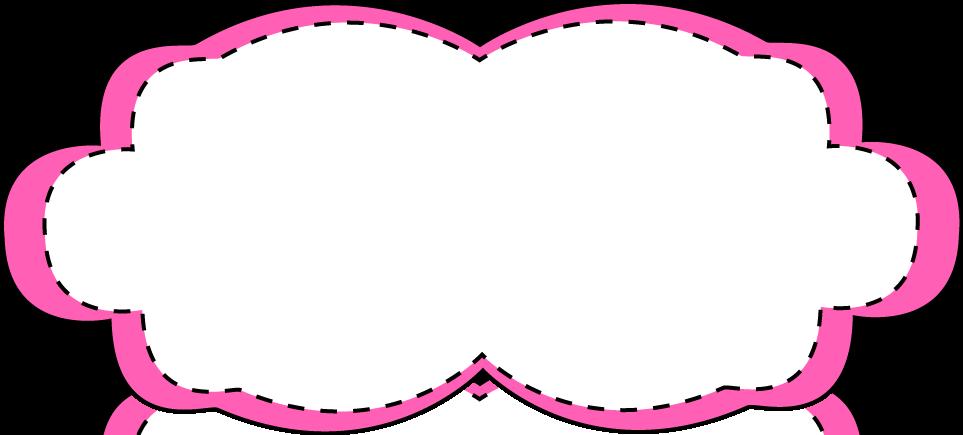 Hot Pink Stitched Frame - Free Clip Art Frames