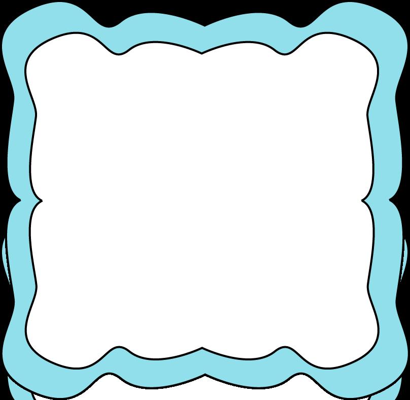 Light Blue Curvy Frame