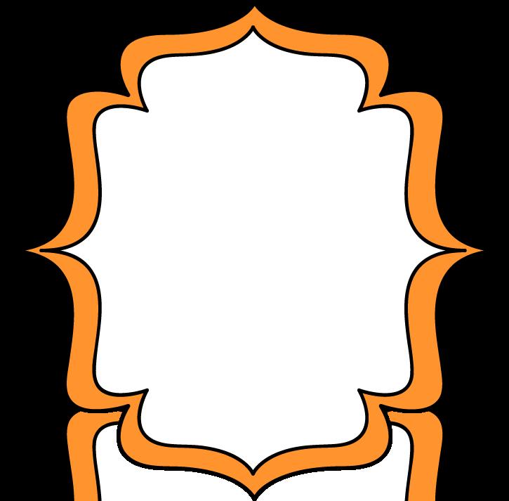 Orange Double Bracket Frame - Free Clip Art Frames