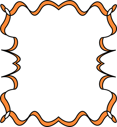 Orange Full Page Zig Zag Border Frame Free Clip Art Frames