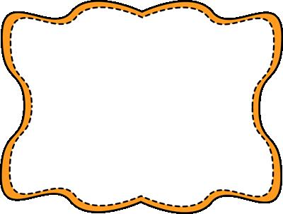 Orange Wavy Stitched Frame