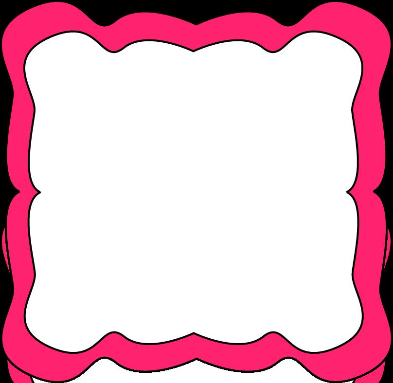 Pink Curvy Frame - Free Clip Art Frames