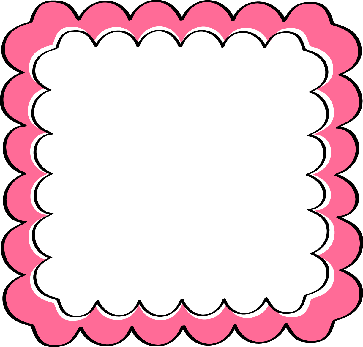 pink scalloped frame