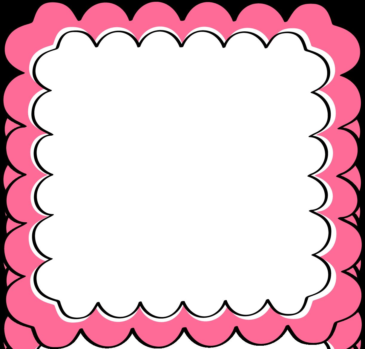 Pink Scalloped Frame Free Clip Art Frames