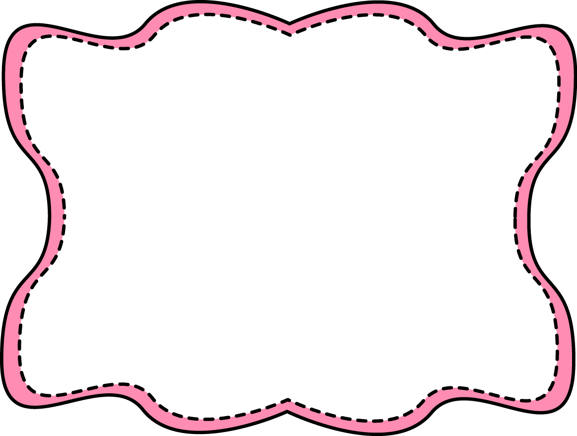 Pink Wavy Stitched Frame Free Clip Art Frames
