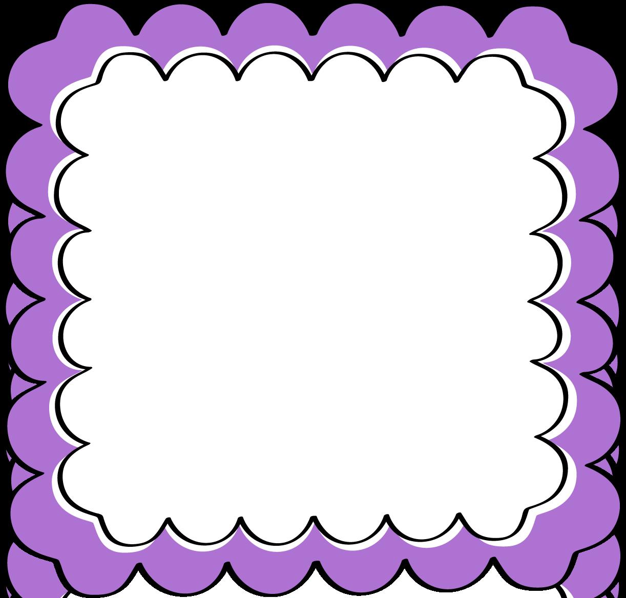 Purple Scalloped Frame - Free Clip Art Frames