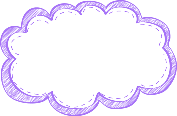 Purple Scribble Frame - Free Clip Art Frames