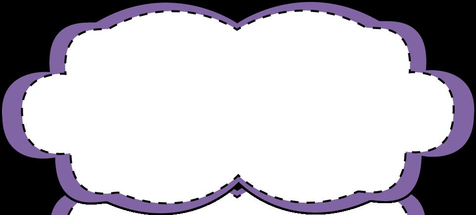 Purple Stitched Frame - Free Clip Art Frames