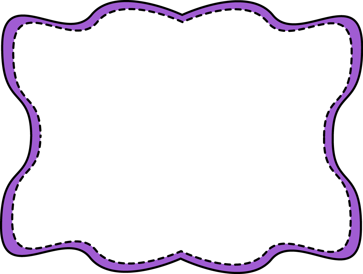 Purple Wavy Stitched Frame - Free Clip Art Frames