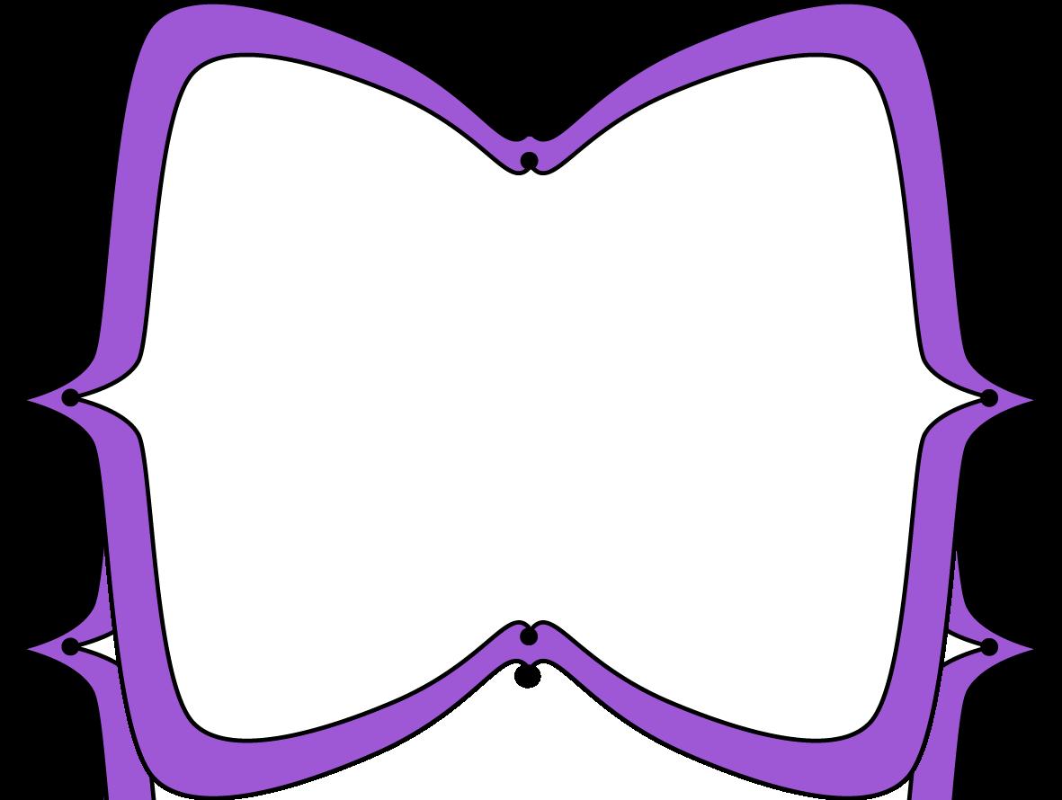 purple wide pointy frame free clip art frames