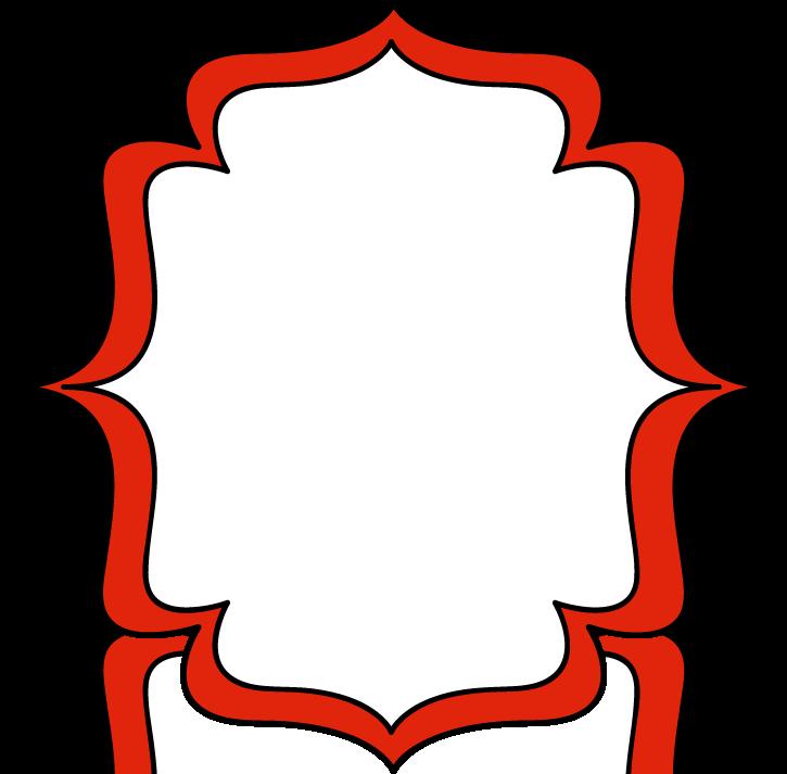 Red Double Bracket Frame - Free Clip Art Frames