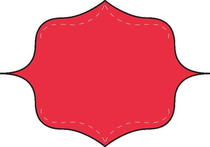 red clip art frame