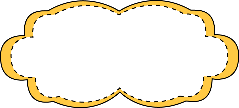 Yellow Stitched Frame - Free Clip Art Frames