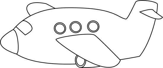 Black and White Airplane