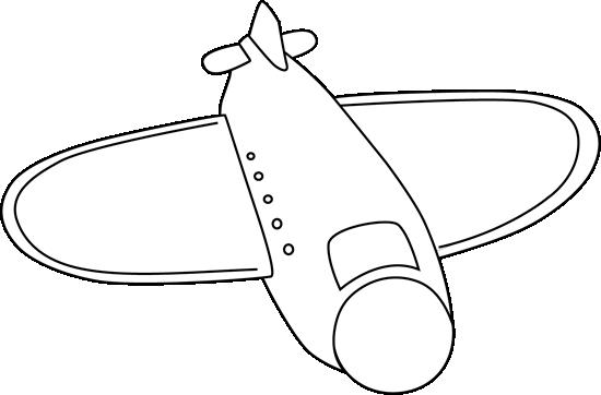 Big Black and White Airplane