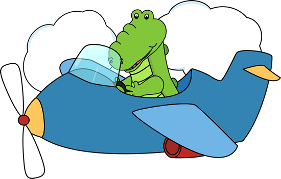 Alligator Flying an Airplane