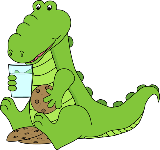 Alligator Eating Cookies