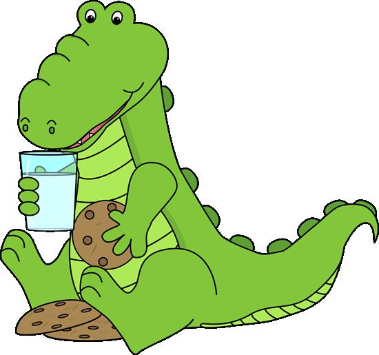 Alligator Eating Cookies